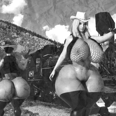 3D Giant Booty Western Fantasy
