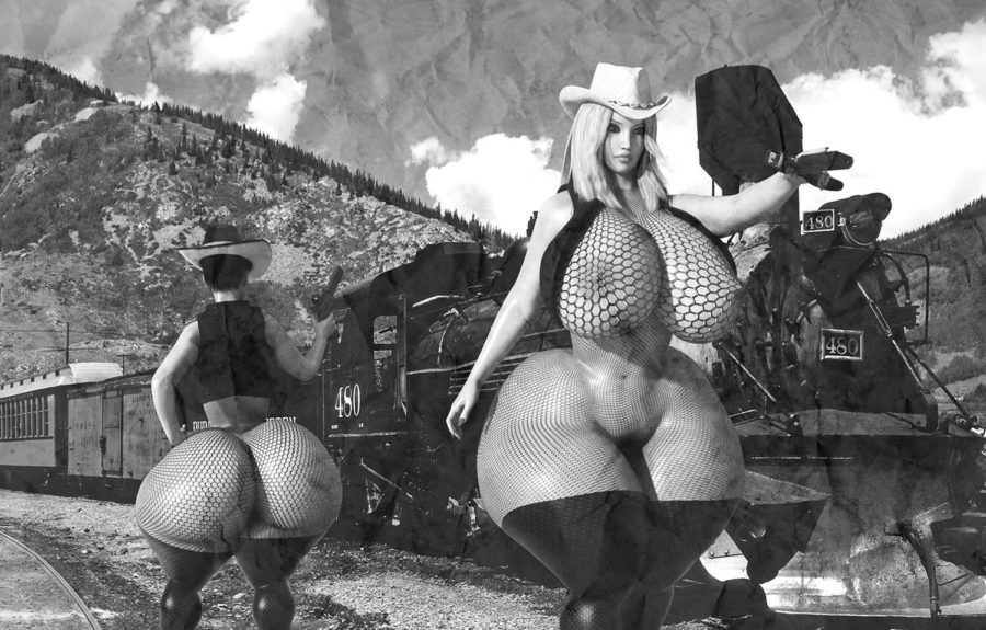3D hot double huge booty